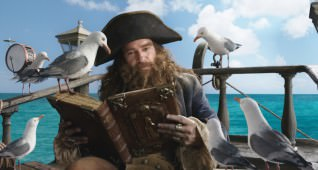 Antonio Banderas (as Burger-Beard).  SpongeBob SquarePants, the world's favorite sea dwelling invertebrate, comes ashore to our world for his most super-heroic adventure yet in THE SPONGEBOB MOVIE: SPONGE OUT OF WATER, from Paramount Pictures and Nickelodeon Movies.