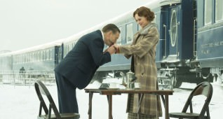 "Kenneth Branagh and Daisy Ridley star in Twentieth Century Fox's ""Murder on the Orient Express."""