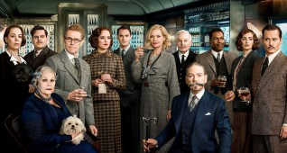 L-r, (standing) Olivia Colman as Hildegarde Schmidt, Josh Gad as Hector MacQueen, Willem Dafoe as Gerhard Hardman, Daisy Ridley as Mary Debenham, Thomas Bateman as Bouc, Michelle Pfeiffer as Caroline Hubbard, Derek Jacobi as Edward Henry Masterman, Leslie Odom Jr. as Dr. Arbuthnot, PenŽlope Cruz as Pilar Estravados, Johnny Depp as Edward Ratchett, Judi Dench as Princess Dragomiroff (seated left) and Kenneth Branagh as Hercule Poirot (seated right) star in Twentieth Century FoxŐs ŇMurder on the Orient Express.Ó Photo © 2017 Twentieth Century Fox FIlm Corp.