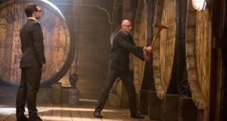 "Taron Egerton, left, and Mark Strong star in Twentieth Century Fox's ""Kingsman: The Golden Circle."""