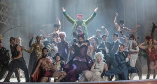 "Keale Settle, center, stars in Twentieth Century Fox's ""The Greatest Showman."""