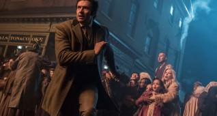 "Hugh Jackman and Michelle Williams star in Twentieth Century Fox's ""The Greatest Showman."""