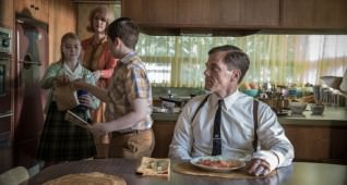 (From L-R) Madison Ferguson, Lauren Lee Smith, Jayden Greig, and Michael Shannon in the film THE SHAPE OF WATER. Photo by Kerry Hayes. © 2017 Twentieth Century Fox Film Corporation All Rights Reserved