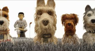 "(From L-R): Bill Murray as ""Boss,"" Koyu Rankin as ""Atari Kobayashi,"" Edward Norton as ""Rex,"" Bob Balaban as ""King"" and Jeff Goldblum as ""Duke"" in the film ISLE OF DOGS. Photo Courtesy of Fox Searchlight Pictures. © 2018 Twentieth Century Fox Film Corporation All Rights Reserved"