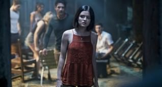 "(Center) LUCY HALE and TYLER POSEY lead the cast of ""Blumhouse's Truth or Dare,"" a supernatural thriller from Blumhouse Productions.  A harmless game of ""Truth or Dare"" among friends turns deadly when someone—or something—begins to punish those who tell a lie—or refuse the dare."