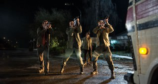 "L-r, Thomas Jane, Keegan-Michael Key, Olivia Munn and Boyd Holbrook star in Twentieth Century Fox's ""The Predator."""