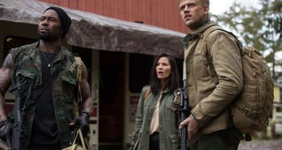 "L-r, Trevante Rhodes, Olivia Munn and Boyd Holbrook star in Twentieth Century Fox' ""The Predator."""